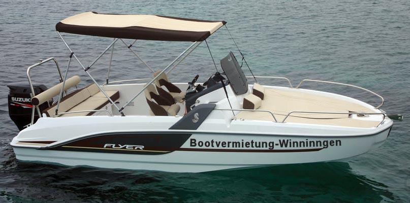 Charterboot Beneteau Flyer mit 200 PS in der Bootvermietung Charterboote Winngen an der Mosel bei Koblenz